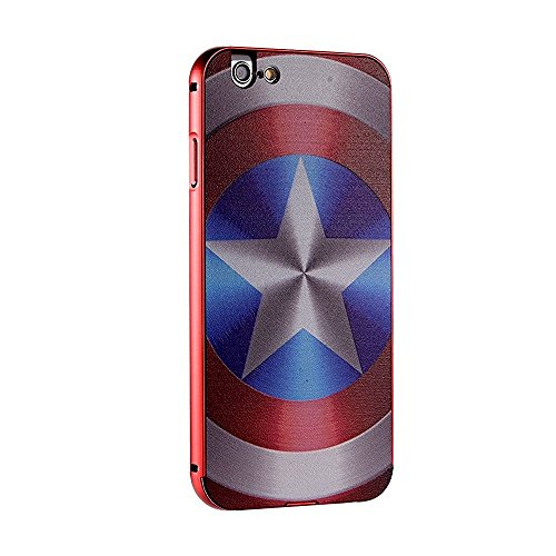Ultra-thin Luxury Aluminum Metal PC Back (America Captain) Case Cover for Apple Iphone 6/6S Plus 5.5 (Captain America Iphone compare prices)