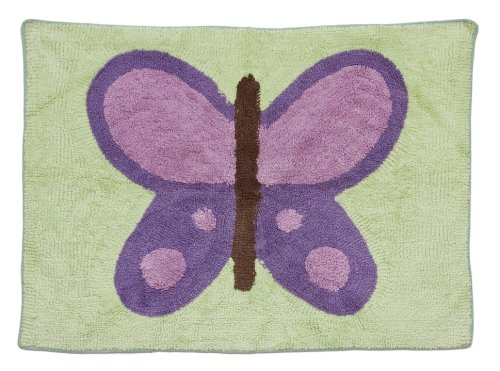Pam Grace Creations Rug, Lavender Butterfly