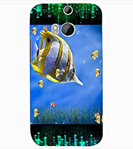 ColourCraft Beautiful Fish Design Back Case Cover for HTC ONE M8