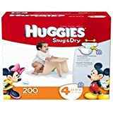 Huggies Snug & Dry Diapers Step 4, 200 Ct