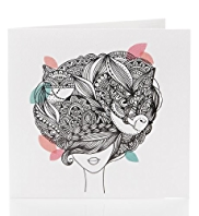 Graphic Boutique Lady Birthday Card for Her