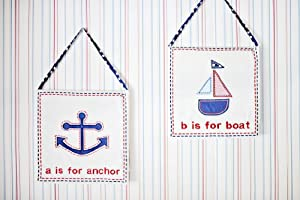 My Baby Sam 3 Piece Ahoy Mate Wall Art