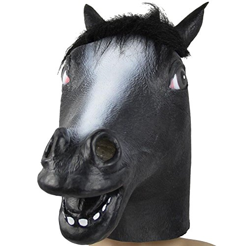 MissFox Halloween Masquerade Horse Mask Costume Party Horse Head Mask