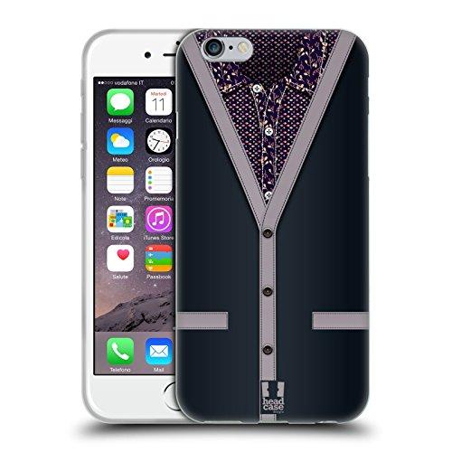 Head Case Designs Grigio Carbone Collezione Cardigan Cover Morbida In Gel Per Apple iPhone 6 / 6s