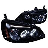 Spec-D Tuning 2LHP-CV01G-TM Black Projector Headlight (Smoked Lens Gloss Housing)
