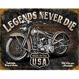 Blechschild 32 x 41 cm - Legends Never Die