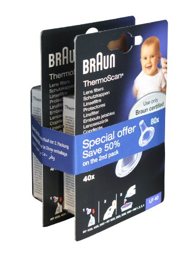 Ear Thermometer Lens Filters Pack Of 80 Promo-lf40eula By Braun