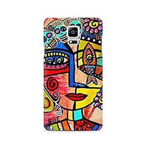Mobicture Paint Abstract Premium Printed Case For Samsung Note 4 N9108