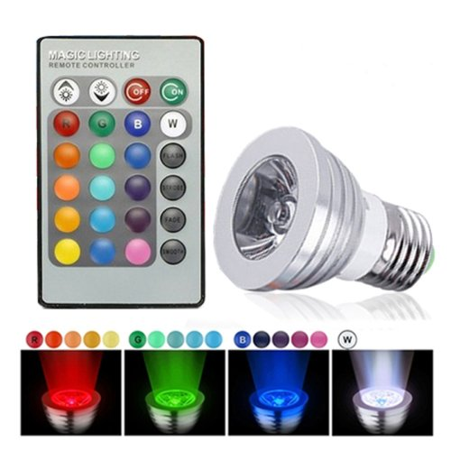 HDE Dimmable LED Lamp Light Bulb Color Changing E27 Standard Screw Base with Remote Control (Led With Remote compare prices)
