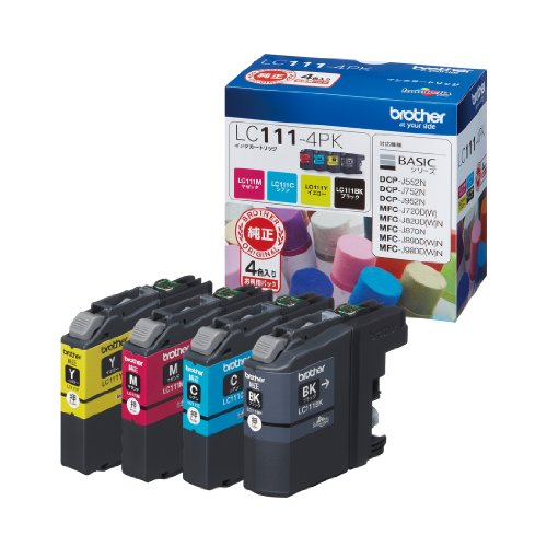 BROTHER ink cartridge value pack and 4-color Pack LC111-4PK