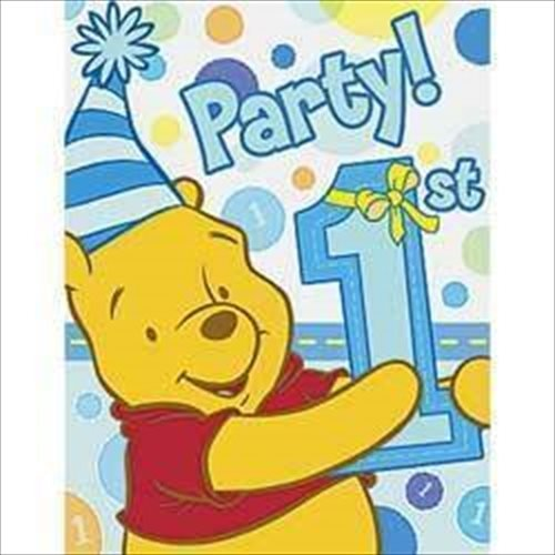 Winnie The Pooh Boys First Birthday Party Supplies