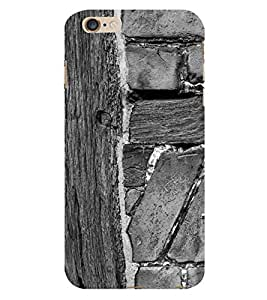 Fiobs Wood Rock Pattern Design Phone Back Case Cover for Apple iPhone 6 Plus