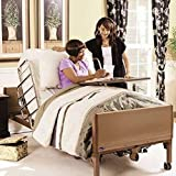 Full Electric Hospital Bed Package (Invacare Full Electric Home Hospital Bed Package w/Innerspring Mattress, Half Rail Set)