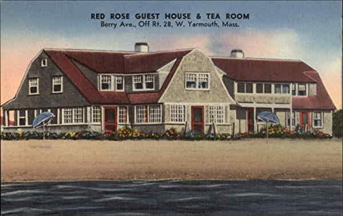 Red Rose Guest House & Tea Room West Yarmouth Massachusetts Original Vintage Postcard