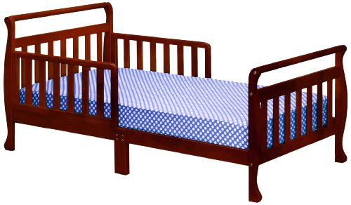 Athena Anna Sleigh Toddler Bed, Cherry