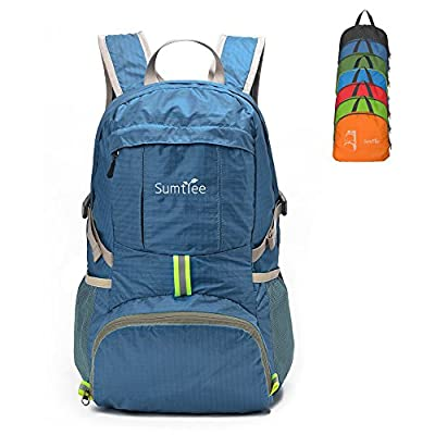 Sumtree 35L Ultra Lightweight Foldable Packable Backpack, Durable Hiking Daypack