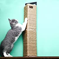 Bignose-Premium Triangle Cat Scratching Post Wall Mounted Scratching Toys Diy Cat Tree
