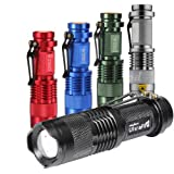 Mini Cree Led Flashlight Torch Adjustable Focus Light Lamp