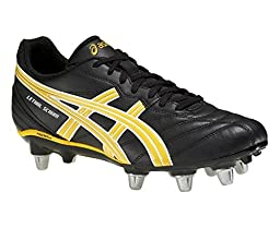 ASICS Men\'s Lethal Scrum-M Rugby Shoe, Black/Yellow/White, 12 M US