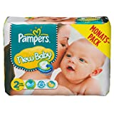 Pampers Windeln New Baby Gr.2 Mini 3-6kg Monatsbox, 240 Stück