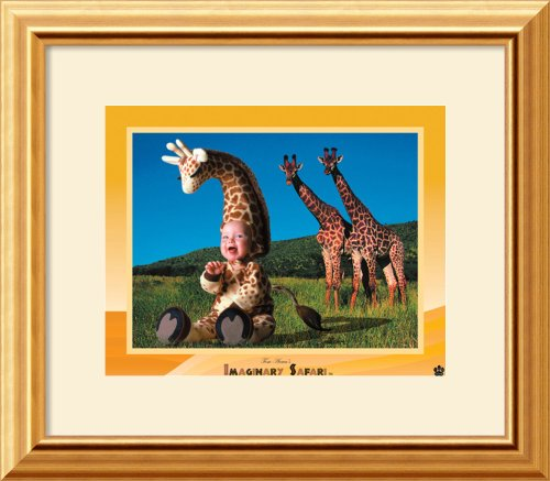Imaginary Safari - Giraffe By Tom Arma Framed front-867685