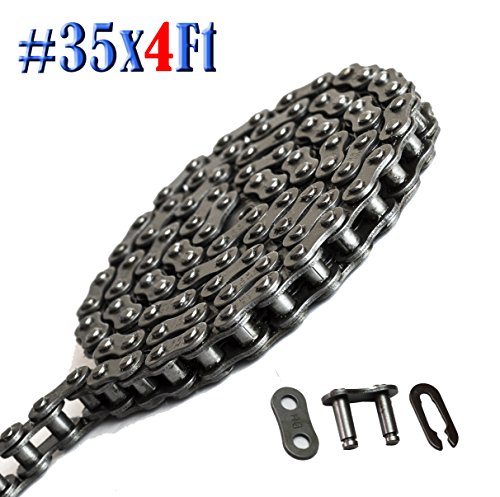 Donghua Standard #35 Roller Chain 4 Ft (127 Links), With 1 Connecting/ Master Link, Sports Utility Vehicle Chain Replacement