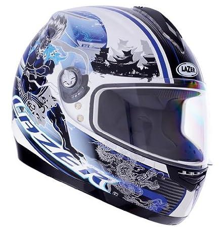 1201431050XL lazer casque de moto vertigo raijin taille xL (blanc/bleu)