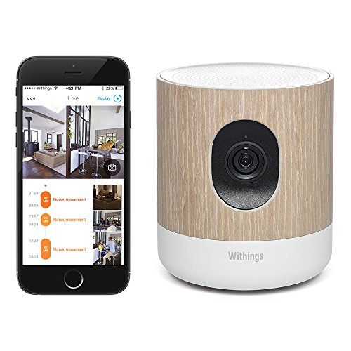 Withings Home Wi-Fi Security Camera with Air Quality Sensors (White and Brown)