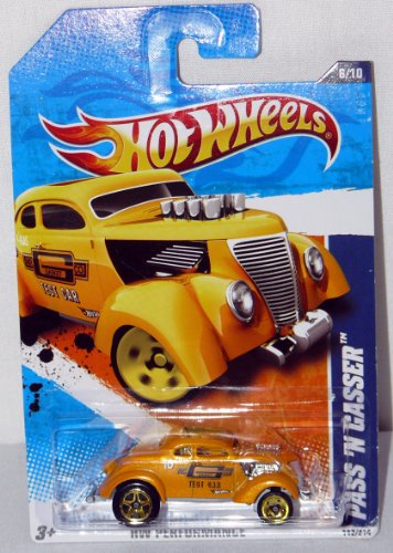 Hot Wheels Performance Series Die Cast Toy Vehicle #6 Golden Yellow Pass 'N Gasser Gasket Test Car Ford Hot Rod - 1