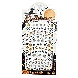 Nail Stickers / Nail Art / Nail Decals Stamping Kit Holiday Set Halloween Plate Collection DIY Decoration - 3 Packs Variety Mixed