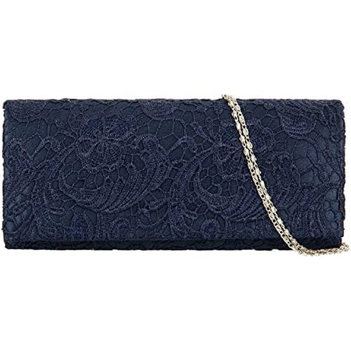Accessorize-me Lace Overlay Evening Clutch Bag Handbag Wedding Races Prom 12 Colour's 09222