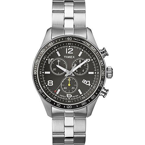 Timex Orologio da Polso da Uomo, Acciaio Inox, Argento