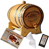 Personalized American Oak Aging Barrel - Design 063: Barrel Aged Whiskey (1 Liter)