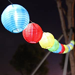 Chinese Lantern String Lights Outdoor : Amazon.com : Sunniemart 20 LED Chinese Lantern String Lights Solar Christmas Lights Outdoor ...