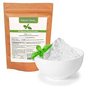All Natural Stevia Powder - No fillers, Additives or Artificial Ingredients of Any Kind - Highly Concentrated Stevia Extract Sugar Substitute (10g)