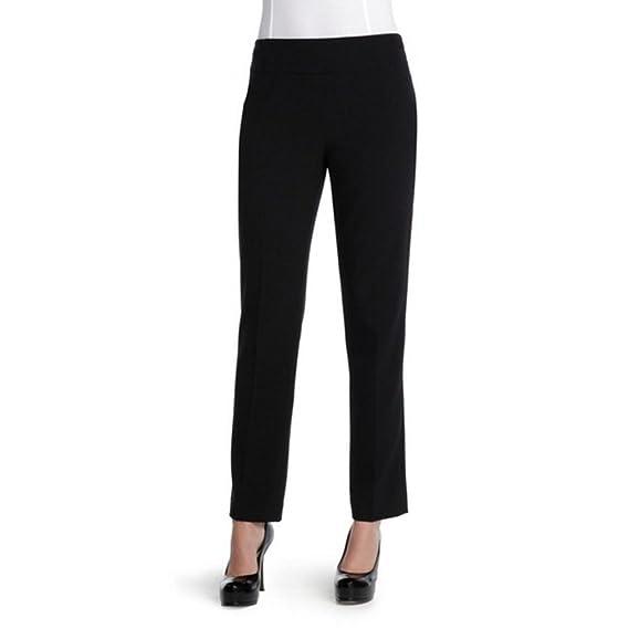 Nic and Zoe Slim Side Zip Drapey Pant in Black Onyx