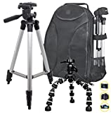 SOCKO-PHOTOGRAPHY-50-Tripod-8-Flexible-Bendipod-Sleek-Digital-SLR-CameraCamcorder-Padded-Backpack-For-The-Photo-Enthusiast-or-Casual-Photographer-Nikon-Canon-Sony-Samsung