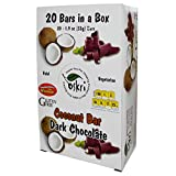 Oskri Gluten Free Coconut Bar & Dark Chocolate 53g (Pack of 20)