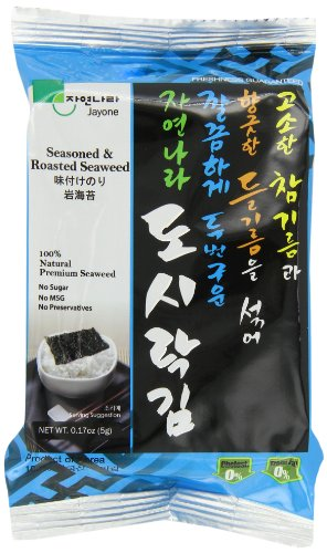 Jayone Seaweed, Roasted and Lightly Salted, 24 Count by Jayone