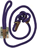 Mendota Slip Dog Lead 6ft x 1/2in Purple