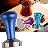 LussoLiv 51mm Colour Handle Stainless Steel Coffee Tamper Coffee Machine Espresso Tamper Hammer