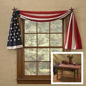 Amazon.com - American Flag Window Curtain Swag - Table Runner - Window