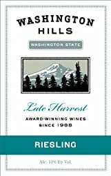 2014 Washington Hills Late Harvest Riesling, Washington 750 mL