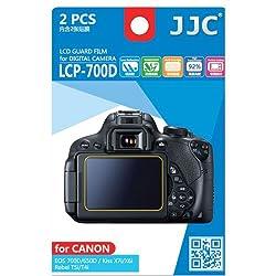 JJC LCP-700D ultra hard polycarbonate LCD Film Screen Protector For Canon T5I T4I 700D 650D X7I X6I (2 Kits)