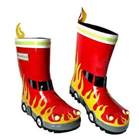kids fireman rainboot
