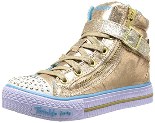 Skechers Kids Heart & Sole Light Up Sneaker,Gold,13 M US Lit