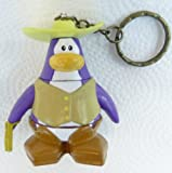 Key Chain - Clip On - SPECIAL - Club Penguin COWBOY 2 Vinyl Mini Figure - Also GREAT Christmas Ornament - Cake Topper - Mix and Match Body Sections - Highly Collectible and Hard to Find