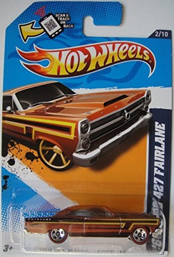 HOT WHEELS MUSCLE MANIA RED LINE EXCLUSIVE FORD '12 SERIES '66 FORD 427 FAIRLANE 112/247