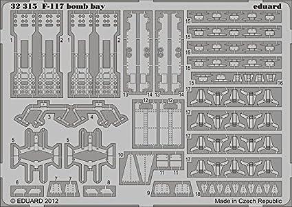 Lockheed F-117A Nighthawk soute à bombes (conçu pour les maquettes Trumpeter)