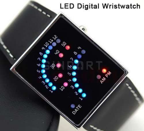 29 LED Watch Light Digital Wrist Watch Uhren Black